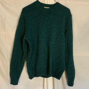 LL Bean Shetland variegated wool yarn sweater. M